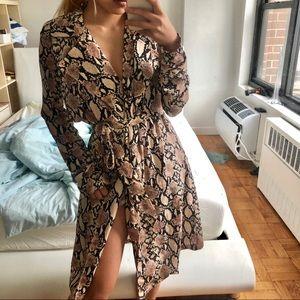 Lulu trench wrap dress